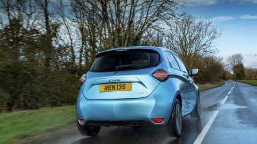 Renault ZOE - rear 3/4 dynamic