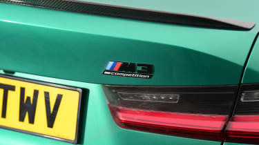BMW M3 Competition saloon - rear bootlid badging