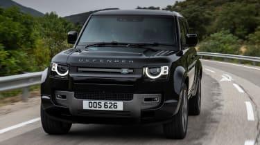 Land Rover Defender V8 SUV front tracking