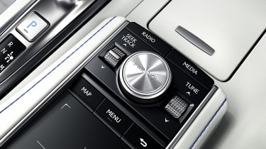 Lexus LC500 Convertible infotainment controls