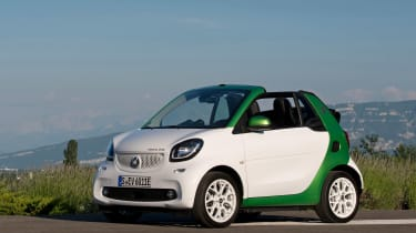 Sharp steering helps give the Smart a feeling of agility and fun, but it's best suited to town driving