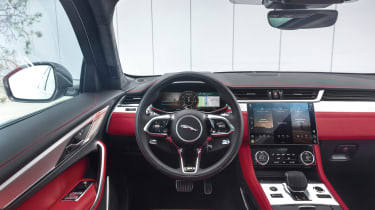 2020 Jaguar F-Pace - interior, steering wheel and infotainment