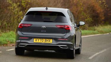 Volkswagen Golf GTE hatchback rear cornering
