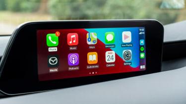 Mazda3 hatchback infotainment display