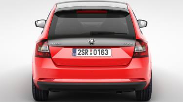 Skoda Rapid Spaceback hatchback 2013 rear