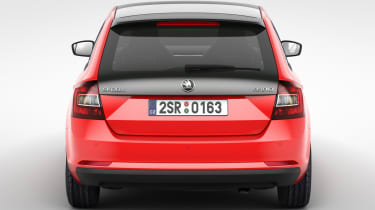 Skoda Rapid Spaceback hatchback 2013 rear