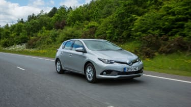 The Auris Hybrid is the most fuel-efficient model in the range