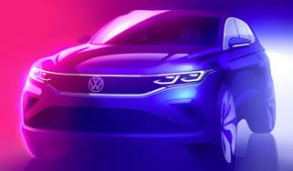 2020 Volkswagen Tiguan teaser sketch