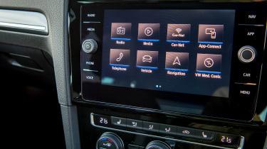 Volkswagen Golf hatchback infotainment system