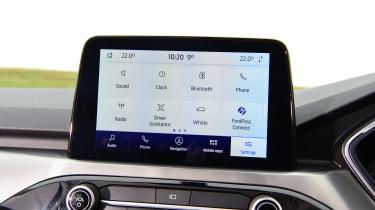 Ford Kuga menu screen