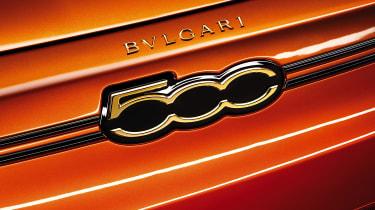 2020 Fiat 500 electric Bvlgari - front badge
