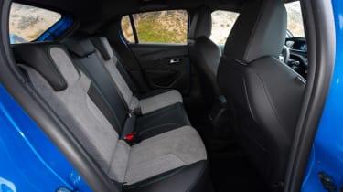 Peugeot e-208 hatchback back seats