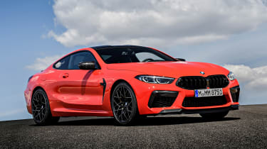 BMW M8 Competition coupe front 3/4 static