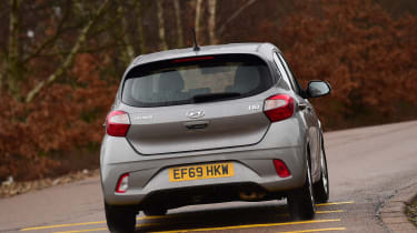 Hyundai i10 hatchback rear cornering
