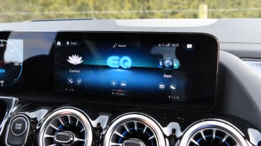 Mercedes EQA SUV review infotainment display