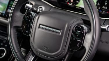 Range Rover Evoque SUV steering wheel