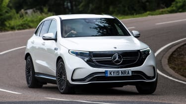 Mercedes EQC SUV front cornering