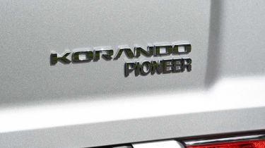 SsangYong Korando SUV rear badge