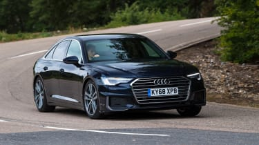 Audi A6 saloon front 3/4 cornering