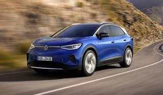2021 Volkswagen ID.4 driving - front view