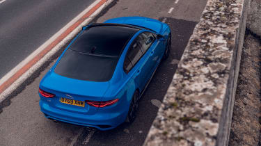 Jaguar XE Reims Edition top view rear