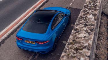 Jaguar XE Reims Edition top view rear