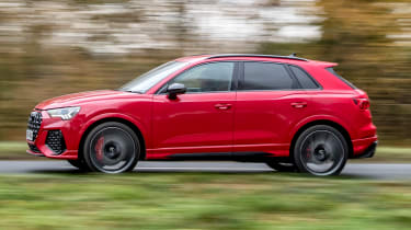 Audi RS Q3 driving - side view