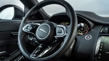 Jaguar E-Pace SUV review steering wheel controls