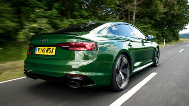 Audi RS5 Sportback rear 3/4 tracking