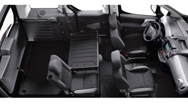 The rear seats can be folded or removed