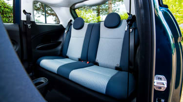 Fiat 500 electric rear seats