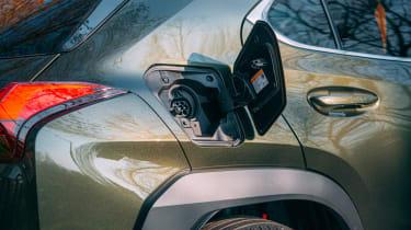 Lexus UX 300e SUV charging flap