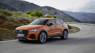 2019 Audi Q3 Sportback - front 3/4 dynamic orange