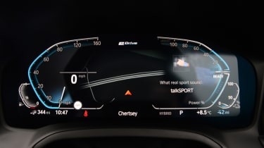 BMW 330e saloon instrument display