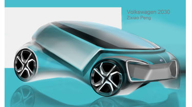 Zixiao Peng – Zixiao's design was a Golf-sized car with a high waist and excellent visibility for maximum occupant protection with influences from the contemporary up! city car.