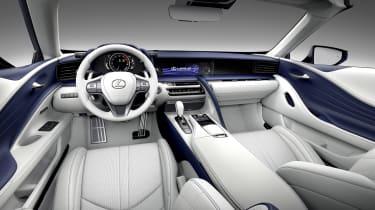 Lexus LC500 Convertible interior