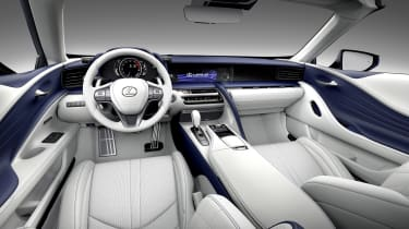 Lexus LC500 Convertible interior
