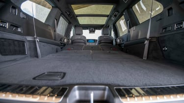 Mercedes GLS SUV seats folded down