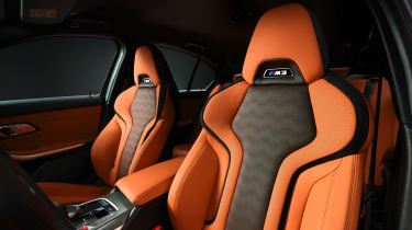 2021 BMW M3 Competition saloon - front seats