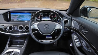 Like all S-Class models, the S300h has a stunning interior packed with technology