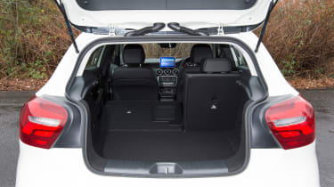 The 341-litre boot isn't too much smaller than rivals, but there's a large loading lip