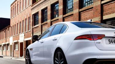 2020 Jaguar XE facelift rear end detail