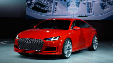 The Audi TT Sportback - seen in concept form here - will be a sharp-handling sibling to the A5 Sportback