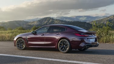 BMW M8 Gran Coupe left side view