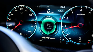 Mercedes-AMG CLA 45 saloon instrument display