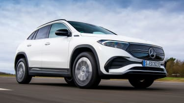 Mercedes EQA SUV review front 3/4 panning