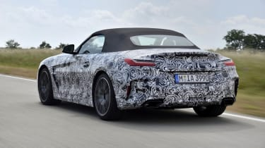 The boot of the new Z4 is 70 litres bigger than the old one.