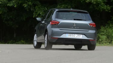The Ibiza has plenty of grip and doesn't lean too much in corners, but its steering lacks feel