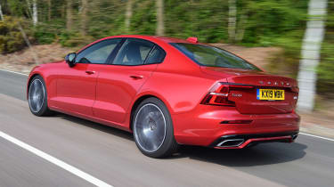 Volvo S60 saloon rear 3/4 tracking