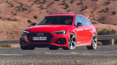 Audi RS4 Avant estate front driving